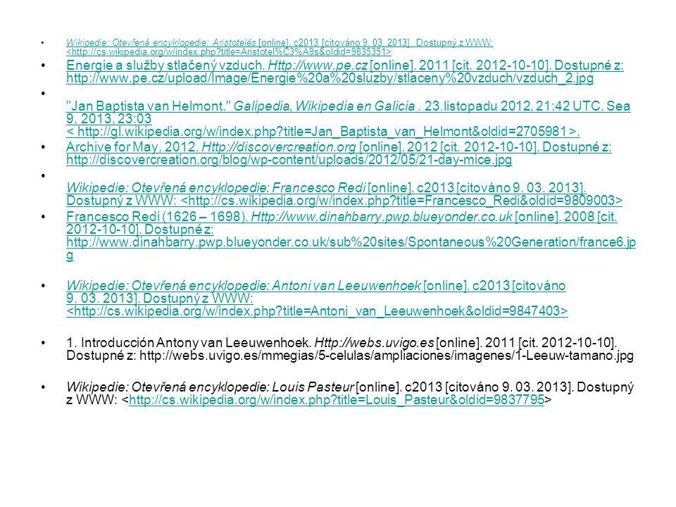Wikipedie: Otevřená encyklopedie: Aristotelés [online]
